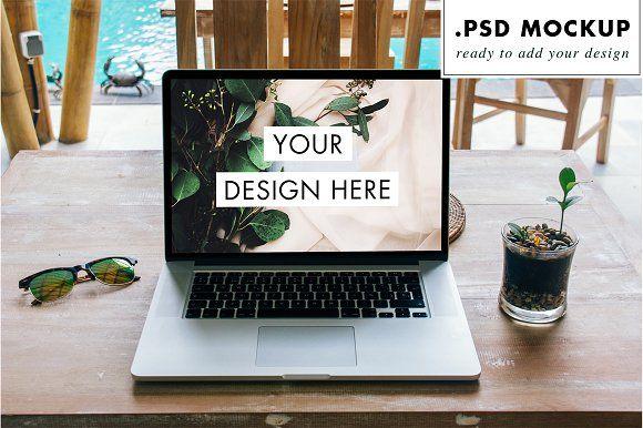 Laptop Psd Ready To Customize Mockup Psd Graphic Design Mockup Psd
