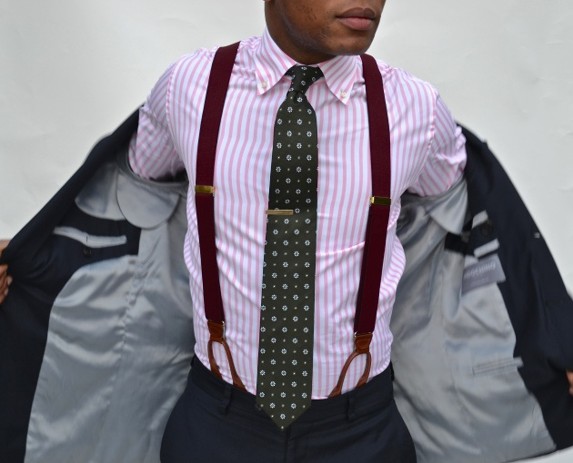 Pink And White Striped Shirt Mens