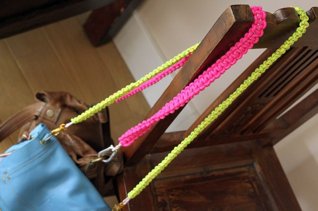 DIY : l'anse de sac fluo | The Beauty and The Geek