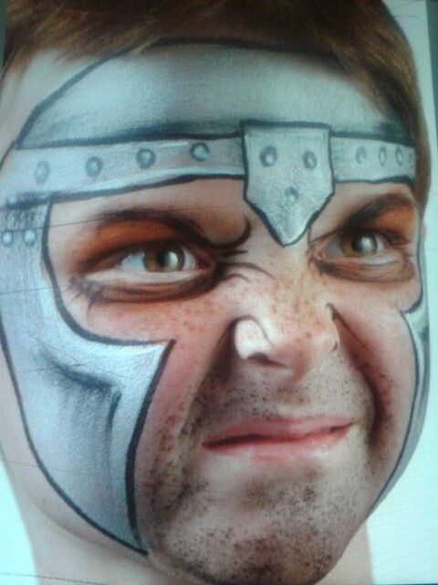 Knight from extreme face painting Brian and Nick Wolfe