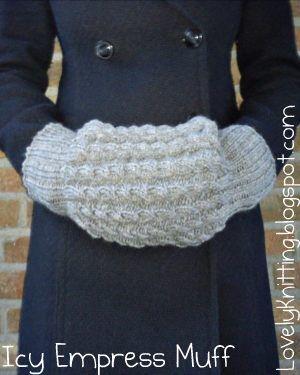 Knitting pattern for muff | Knitting Girl's Lovely Knitting: Icy Empress Muff