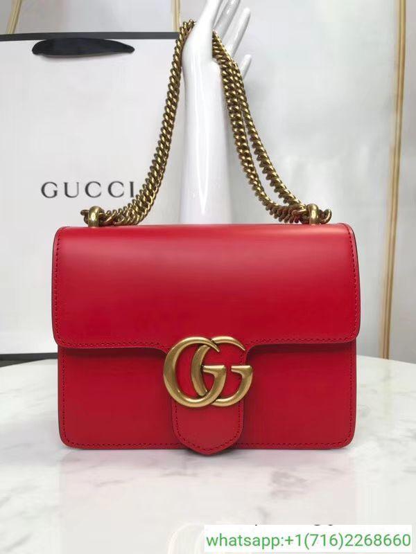 1d7b2fb2b Gucci GG Marmont Calfskin Leather Shoulder Bag 431384 | gucci ...