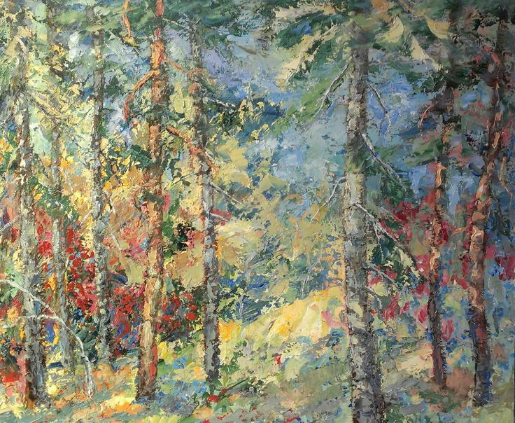Forest interior  oil on canvas 2016