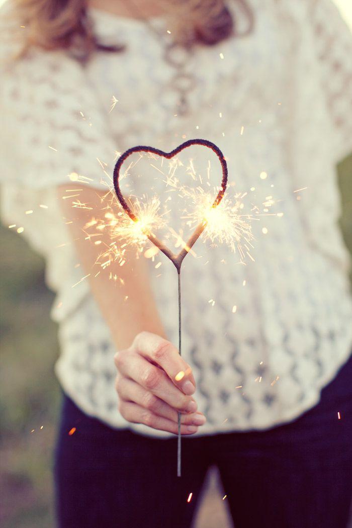 sparkler hearts. Sarah Kate Photo