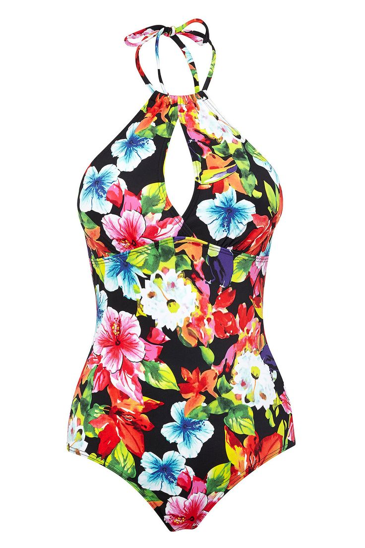 Black Tropical Halter Swimsuit http://bit.ly/TNlIYF #WallisFashion
