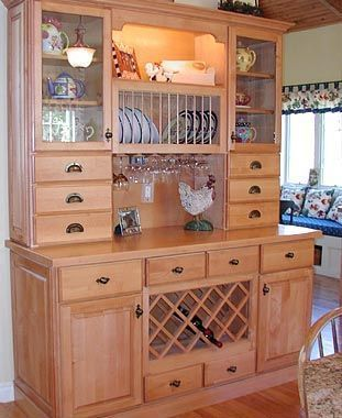 Inspirational China Cabinet with Wine Rack