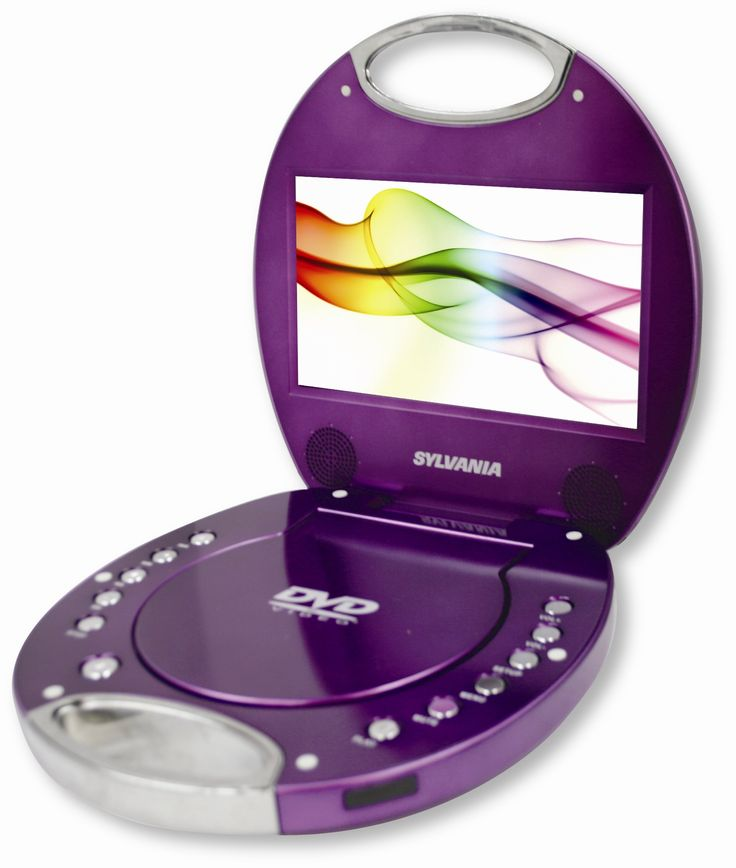 Sylvania SDVD7046-Purple 7-Inch Portable DVD Player with Integrated Handle, Purple