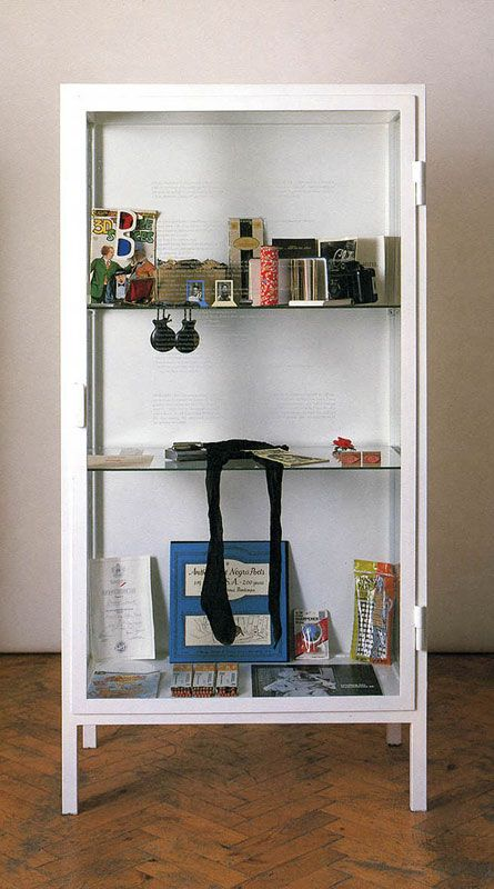 Sophie Calle, The Birthday Ceremony, 1986, showcase containing various personal objects