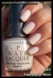 opi time less is more. favorite ivory nail polish