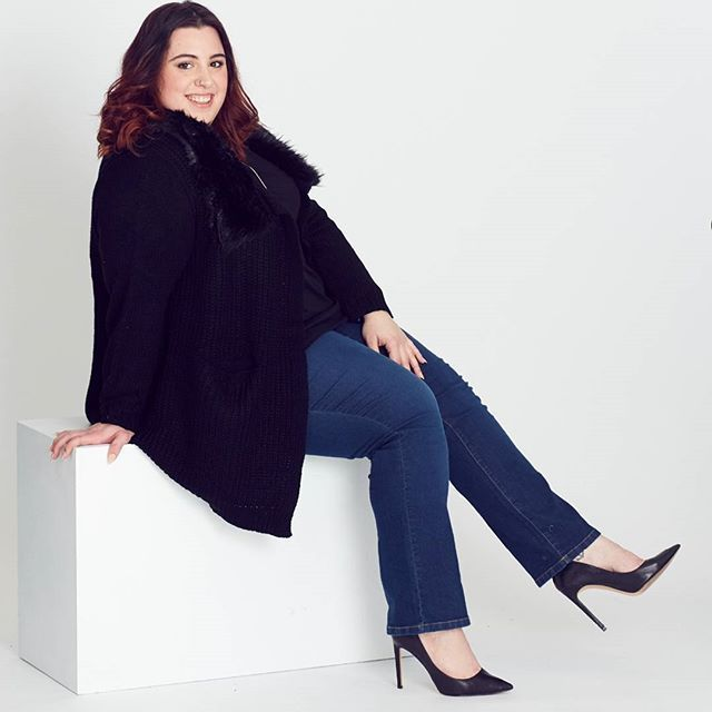 """""""Being curvy makes it hard to shop for a comfortable Jean. My lifesaver denim is the Easy Jean. The pull on style and mid-rise elastic waistband gives me tummy control, and a smooth shape."""" - Carah"""