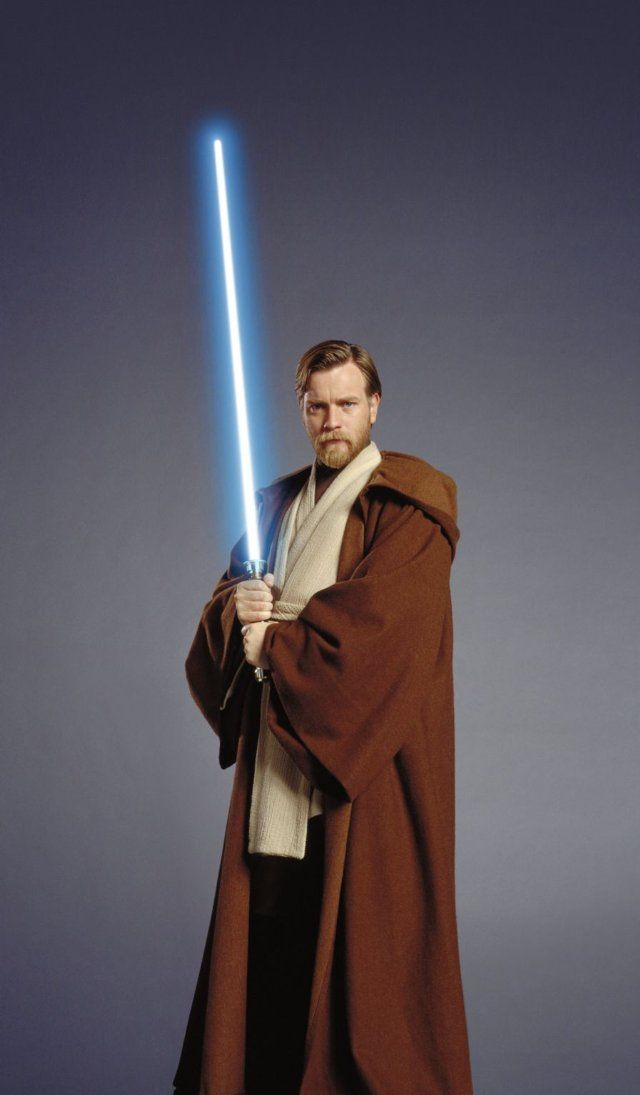 Ewan McGregor as Obi Wan Kenobi (has a awesome beard) in Star Wars: Episode III - Revenge of the Sith