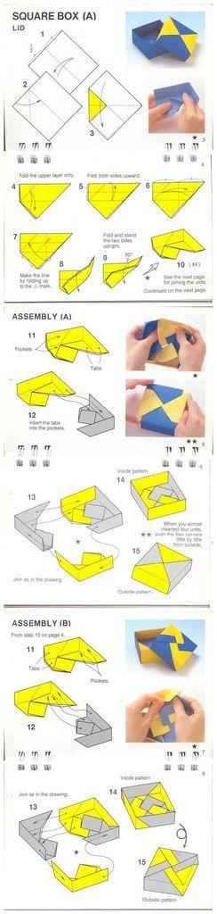 Origami Modular Box :4-unit
