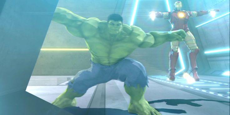 desktop wallpaper for iron man and hulk heroes united, 1600x800 (126 kB)