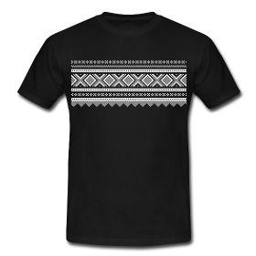 Fresh t-shirt with a classic norwegian Marius pattern