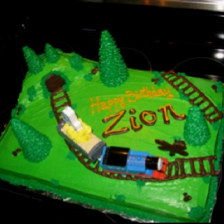 Thomas The Train Sheet Cakes And Trains On Pinterest