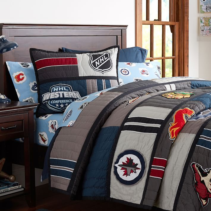 2015 NHL Patchwork Quilt + Sham | Deacon's bedroom ideas ...