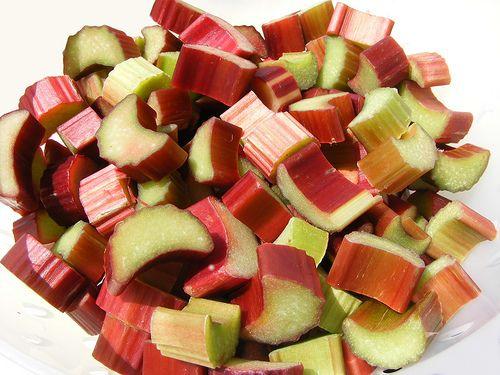 Chopped Rhubarb - the start of every good rhubarb recipe.