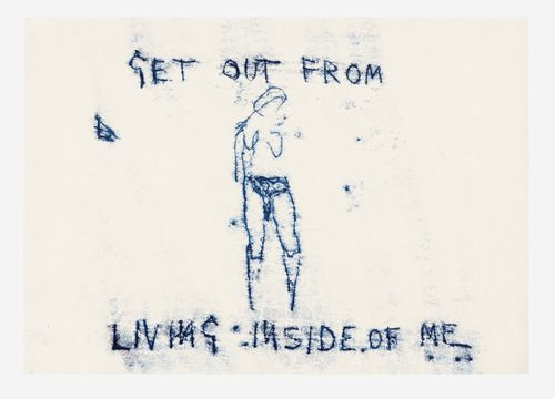 Tracey Emin. <em>Untitled</em> 2008.  Monoprint,  8 7/16 x 11 5/8 inches (21.5 x 29.5 cm). Copyright © the artist. Courtesy White Cube.
