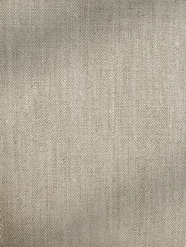 linen in natural colour to compliment the rug and also brown in the sofa thick