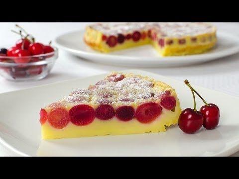 Reteta Clafoutis cu cirese - JamilaCuisine - YouTube