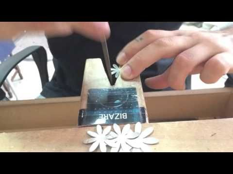 How to make a Chrysanthemum flower Sterling Silver