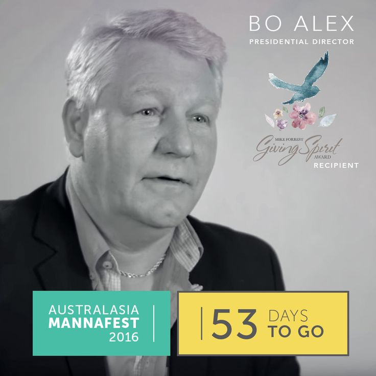 Silver Presidential, Bo Alex will be joining us at Australasian MannaFest, will you?  In his first year Bo achieved the Presidential Director and is also the recipient of the European Ray Robbins Giving Spirit Award. With a wealth of knowledge this is one keynote speaker you won't want to miss.  Register to attend today, http://www.australasianmannafest.com/registration.  All attendees to pay a AU$99 registration fee, this cannot be won through the incentive, seats are limited…