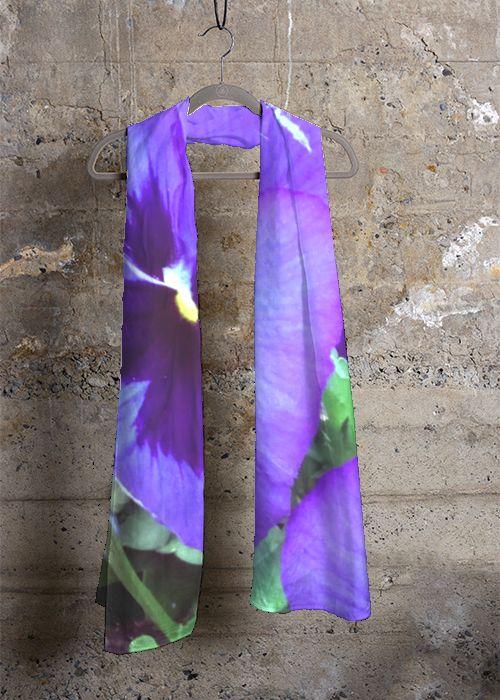 Cashmere Silk Scarf - Mirrored Poppies by VIDA VIDA Yq8TuqJ