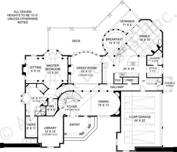 Pontarion ii 4000 sq ft house plan house plan designer 4000 sq ft office plan