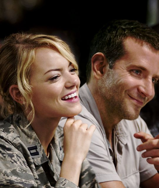 """Emma Stone and Bradley Cooper in """"Aloha"""", directed by Cameron Crowe (2015)"""