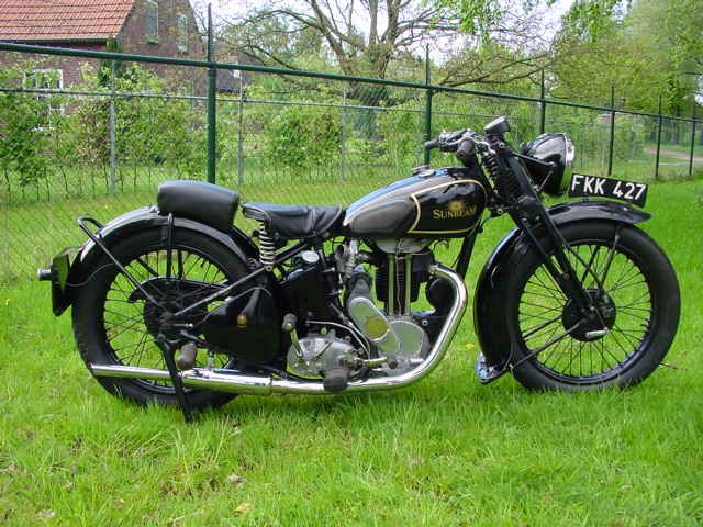 1938 Sunbeam M8, 350ccThe first OHV production Sunbeams were listed as the model 8 (350cc) and 9 (500cc) in 1924. The model 8 with bore/stroke dimensions of 70x90 mm was an excellent sporty tourer, but stayed somewhat in the shadow of its more glamorous big brother. In the course of the years the models 8&9 were kept up to date; saddle tanks were introduced for the 1929 season and the lubrication system was modernised. In the mid-thirties parent company ICI (Imperial Chemical Industries)…