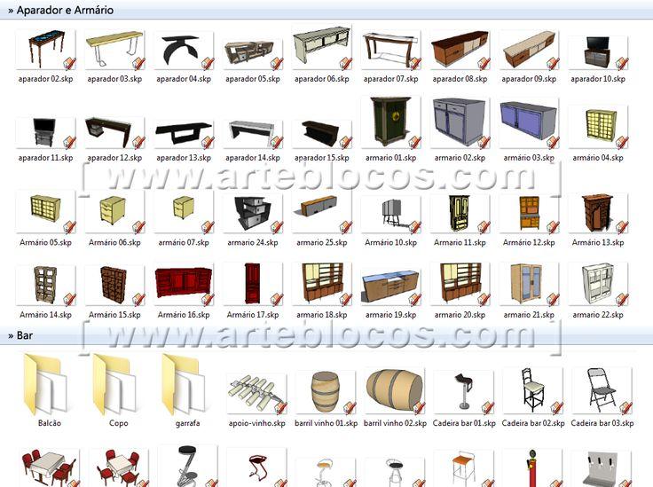 blocos sketchup 25 pinterest blocos de