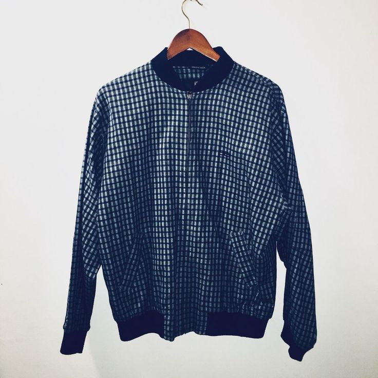 Vintage Balenciaga Plaid Bomber Jacket Size 4 Men's Antique Alchemy | eBay