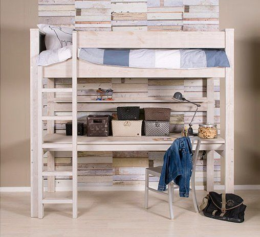 This is my kind of wood if I ever felt the need for a loft bed!!
