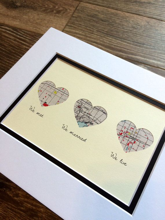 We Met, We Married, We Live -Husband or Wife First Christmas Gift - One Year 1st Anniversary- Personalized Gift For Husbands or Wives