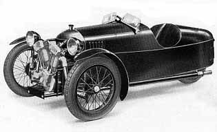 "Super Sports (1929)  Built from 1927-1939.  In 1927 Morgan built an Aero with a tuned engine and modified bodywork, it was called a Super Sports Aero or ""Super Sports"". Around 1932 the 3-speeder model was introduced. In 1933-35 engines changed from J.A.P. to Matchless MX, MX2 and MX4 and body style from Beetleback to Barrelback."