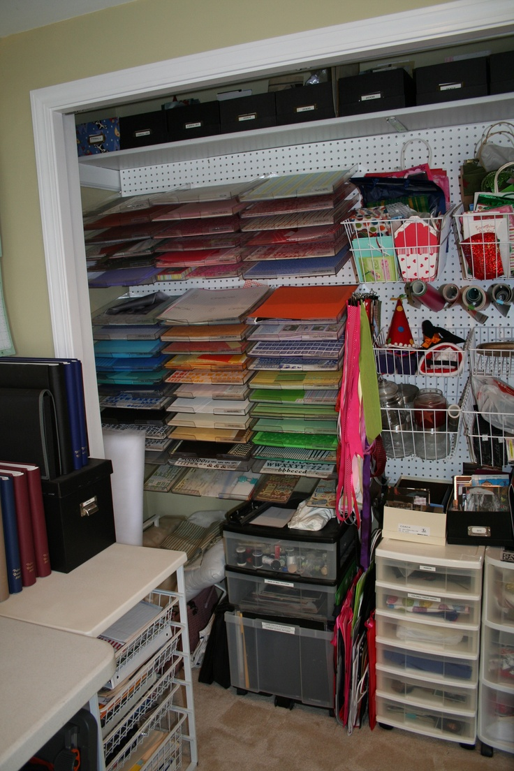 Craft Closet Pinterest