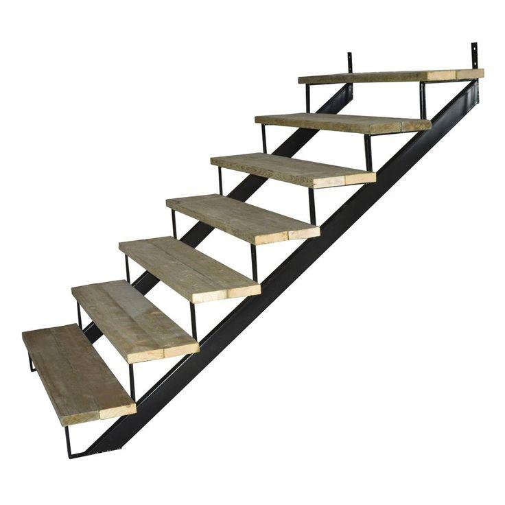 Best Pylex 7 Steps Steel Stair Stringer Black 7 1 2 In X 10 1 400 x 300