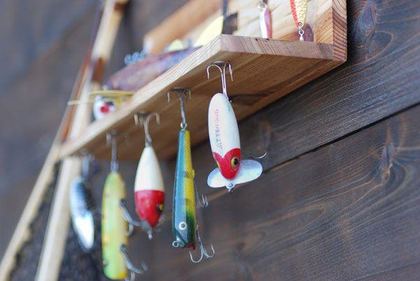 Magnetic Vintage Fishing Lure Display Shelf