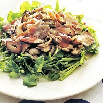 せりの豚きのこ炒めのっけ   藤野嘉子さんの炒めものの料理レシピ   プロの簡単料理レシピはレタスクラブネット