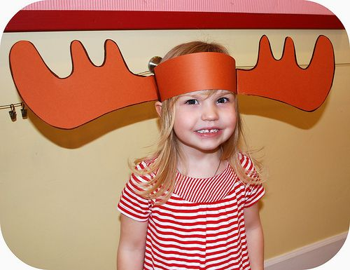 So CUTE!  Moose Antlers Template.  Must do this with If You Give A Moose a Muffin!