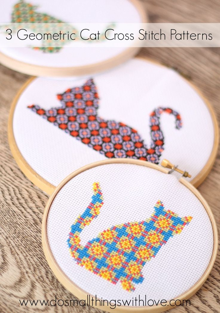 I spent some relaxing time over the holidays stitching up some new patterns for the etsy shop and I just listed them! I'm really happy with how they worked up! Here they are, 3 geometric cat cross stitch patterns. They are each listed for $2.95, or all three are listed in a bundle for $5.95. ...
