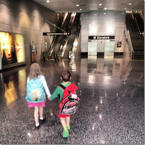 Flying with Kids: One Parent, Four Kids - Mama Smiles - Joyful Parenting  What are your best tips for flying with kids?