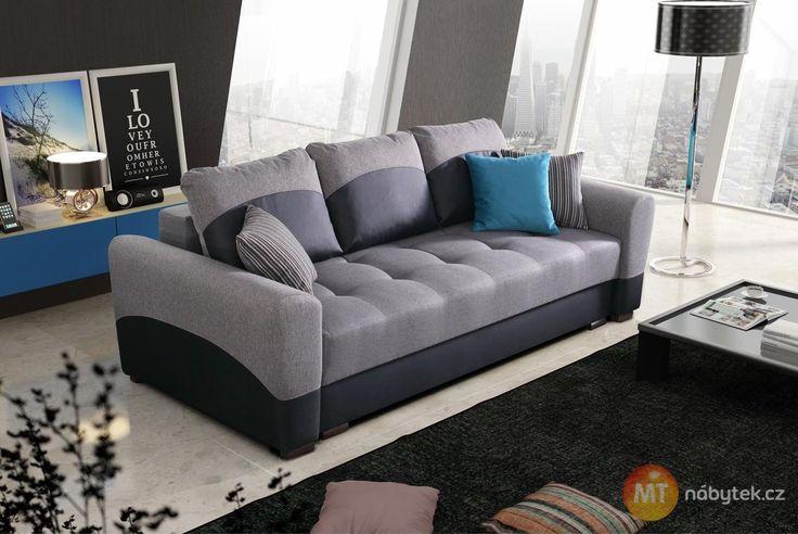 Rozkládací pohovka Zenia uspokojí potřeby celé rodiny #settee #sofa #divan #couch