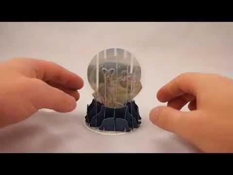 New Souvenir Foldable 3D Snow domes Wildlife Australia Christmas card