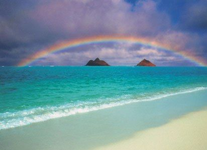Lanikai Beach: Favorite Beach, Favorite Places, Oahu Hawaii, Lanikai Beach, Rainbows, Places I D, Travel, Gods Promise