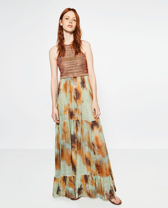 Zara Tie Dye Maxi Dress March 2017