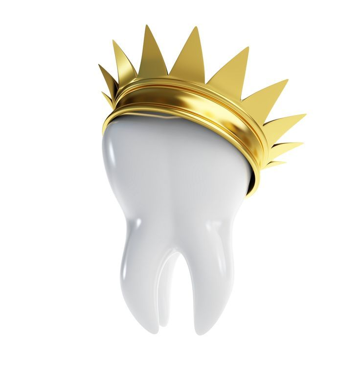 "A dental crown is a tooth-shaped ""cap"" that is placed over a tooth to cover the tooth to restore its shape, size, strength, and improve its appearance. The crown, when cemented into place, fully encase the entire visible portion of a tooth that lies at and above the gumline."