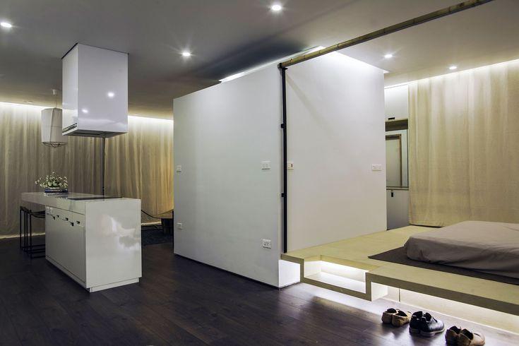 Apartment Renovation under Hanoi Bedroom Interior Among Modern Minimalist Design Ideas Used Floating Bed Furniture With Storage Design Ideas