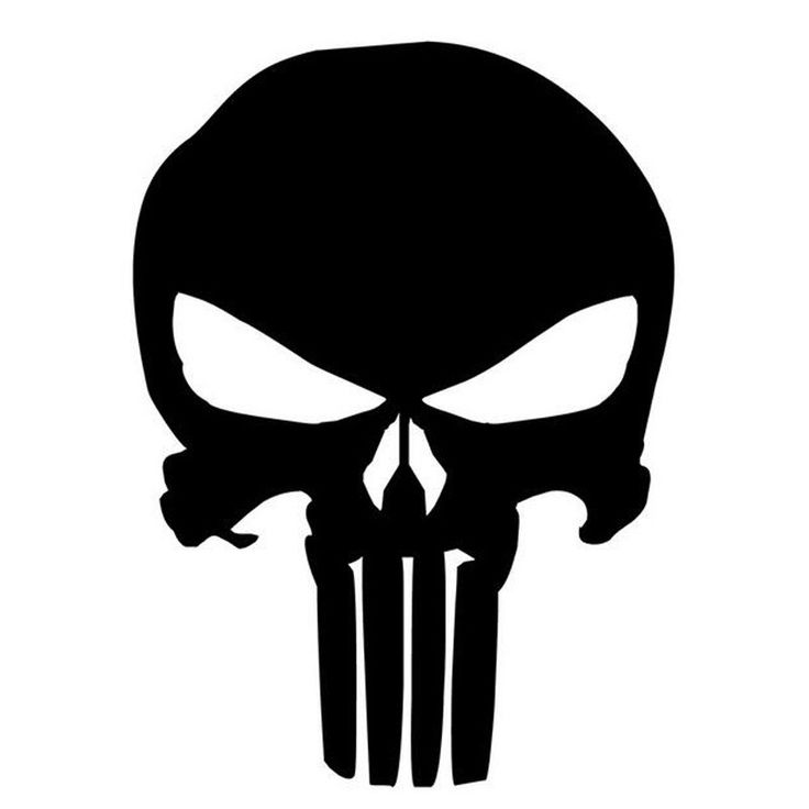 PUNISHER Skull Film Classic Car Stickers Motorcycle Decals Car Accessories Black/Silver