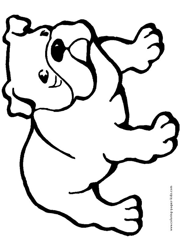 bulldog dogs puppy animal coloring pages color plate coloring sheetprintable - Drawings For Kids To Color